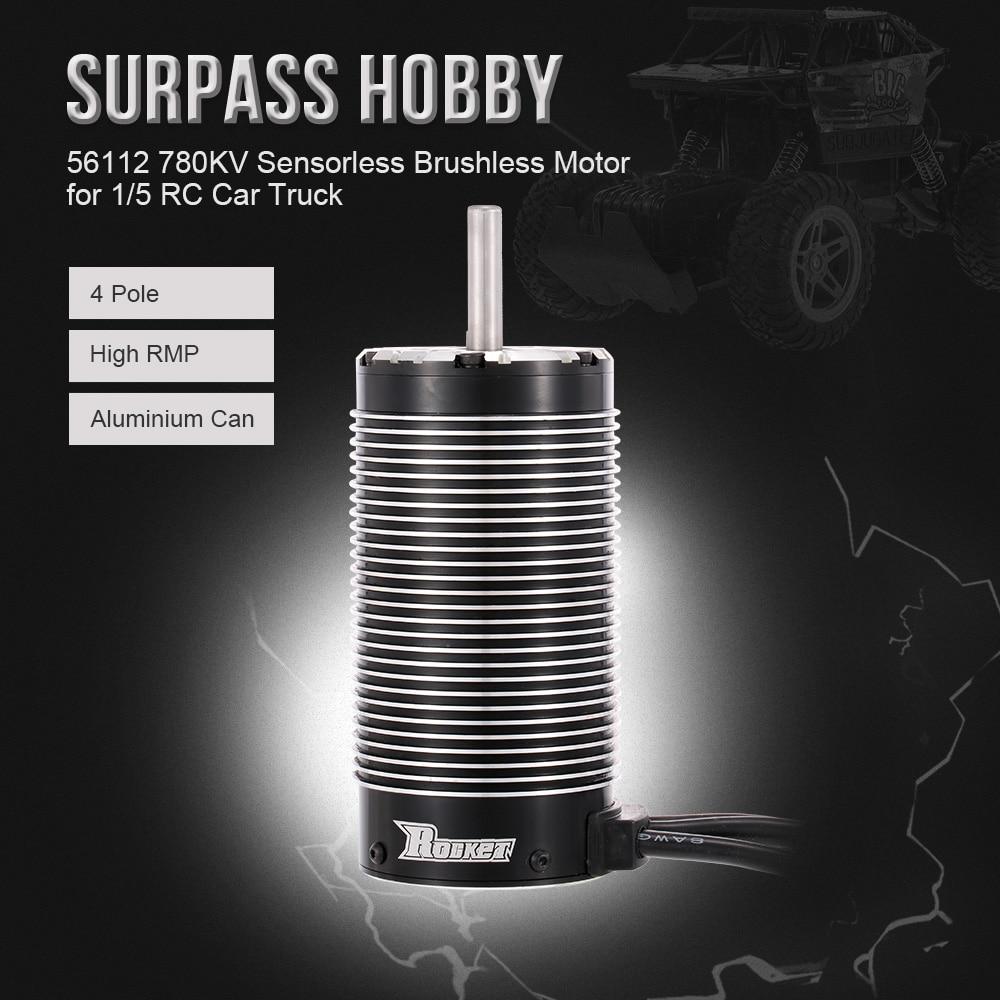 SURPASS HOBBY RC Car Brushless Motor 56112 Rocker 780KV Sensorless Motor for 1/5 RC Car RC Truck t motor mn3110 780kv brushless motor