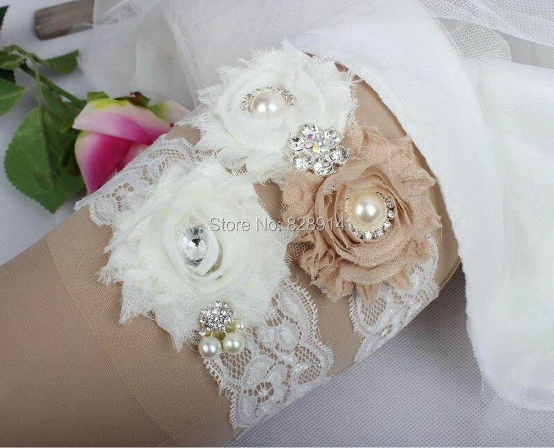 Дизайн кружевная отделка потертый цветок Свадебная подвязка для свадьбы подвязка для невесты синий потертый цветок ручной работы