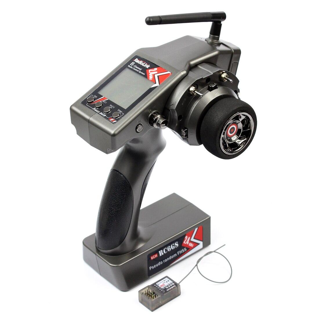 RadioLink RC6GS G 2,4g 6CH transmisor + R6FG Gyro receptor interior RX para Rc Racing Car Control remoto para RC Boat M 400 m distancia