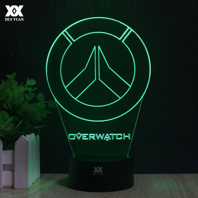 interesting lighting. Overwatch OW 3D Lamp LED Acrylic Novelty Night Light USB Desktop Decorative Table Interesting Children Lighting
