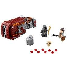 LEPIN Marvel Space Star Wars Starwrs Building Blocks Brick Minifigures Rey's Speeder Kids Baby Enlighten Educational Model Toys