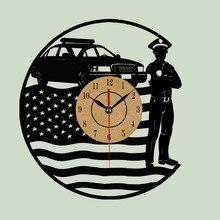 Clásico Disco de Vinilo Reloj de Pared CD EE.UU. Arte Moderno Reloj Horloge murale