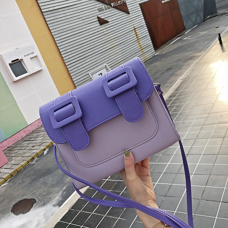 Thailand satchels High quality designer brand pu leather chain satchel handbag colorful purses women clutch Casual