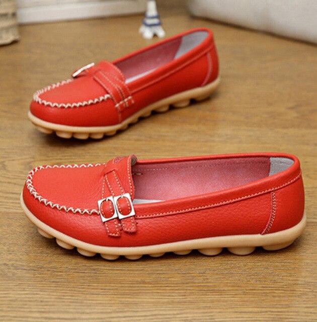 Плюс Размер 36-41 Обувь Женщина Натуральная Кожа Женская Обувь Квартиры Мода Мокасины Поскользнуться На женщин Плоские Туфли мокасины ac52