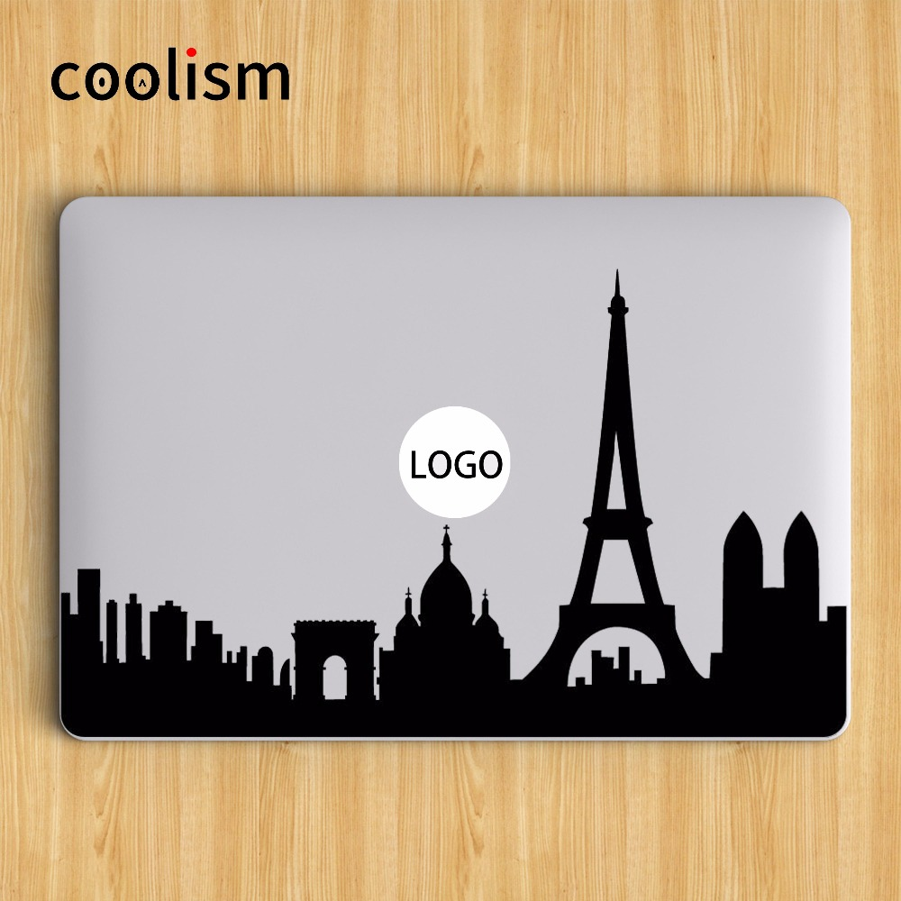 World Attractions Skyline Laptop Sticker for Apple Macbook Pro Decal Air Retina 11 12 13 15 inch HP Notebook Skin Mac Stickers
