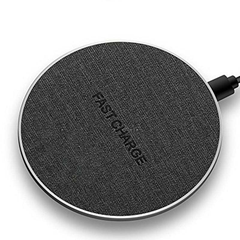 JERX Qi Wireless charger Fast Charing For Samsung Note8 S8 Plus S7 S6 Edge 10W Slim Denim Wireless charger Pad For IPhone X 8