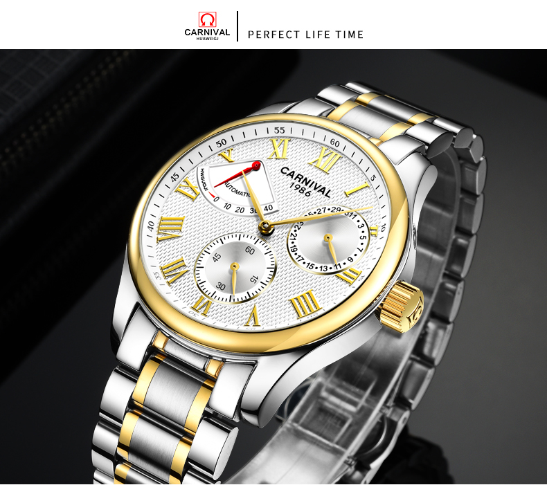 aço inoxidável relógio masculino
