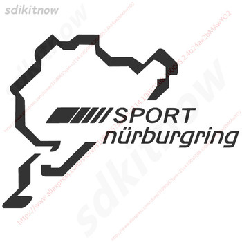 Custom New Nurburgring Sports Racing Windows Door Body PVC Decal Car Styling For Mercedes Benz AMG A G C E S SL GT CLA CLE SUV image