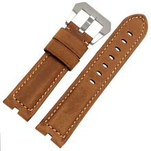 For moto 360 (1nd Gen) Leather Strap 22mm Brown Mens