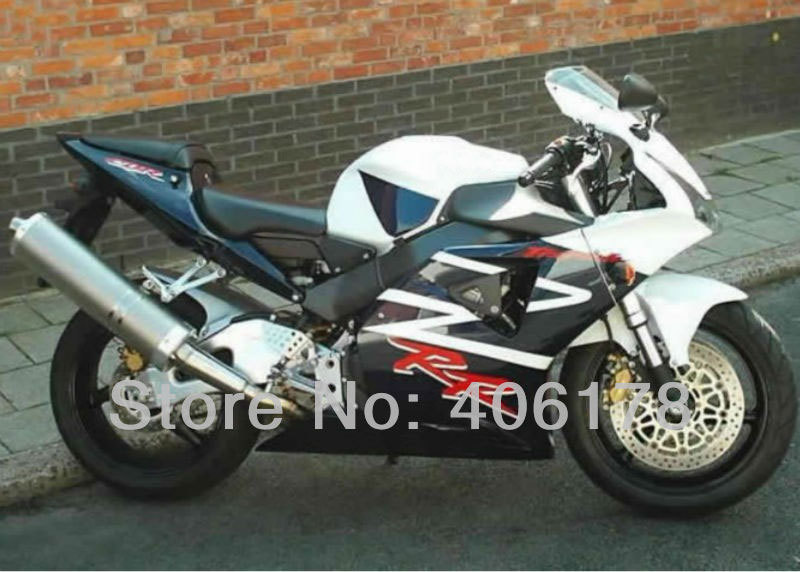 Hot Sales,For Honda CBR954RR 02 03 CBR900RR 954 2002 2003 CBR900 White & Black fairings for motorcycles sale (Injection molding)