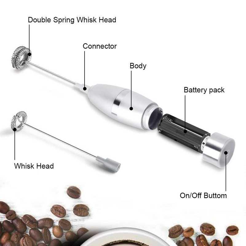 Liquidificador de leite-espuma de leite, fabricante de espuma portátil elétrico para fazer café com leite, cappuccinos, chocolates quentes, como creme