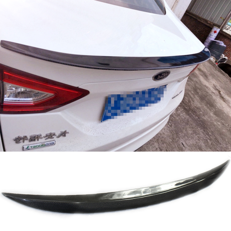 For Ford Mondeo/Fusion Car Decoration 2013 2014 2015 2016 2017 High Quality Carbon Fiber Rear Wing Spoiler for ford fusion mondeo 2013 2014 2015 control glass water panel protective film stickers carbon cover