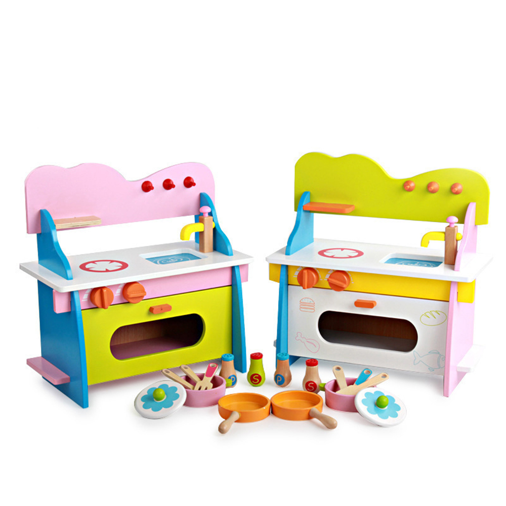 Kitchen Toys Set Wooden Kitchen Simulation Toy Children Play House Blocks Baby Educational Game Toy SetsKitchen Toys Set Wooden Kitchen Simulation Toy Children Play House Blocks Baby Educational Game Toy Sets