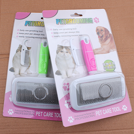 Dog Handle Brush Short Hair Pet Cat Flea Comb Grooming Remover Pulgas Dogs