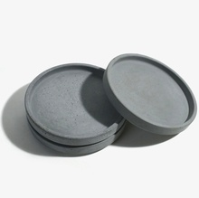 Silica gel silicone molds Round Cement plate cup fruit plates water concrete dish handmade mold