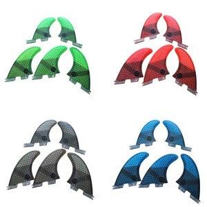 Image 5 - FCSII G5 + GL Surfboard mavi/siyah/kırmızı/yeşil renk petek yüzgeçleri üç quad fin set FCS 2 Fin sıcak satış FCS II Fin Quilhas