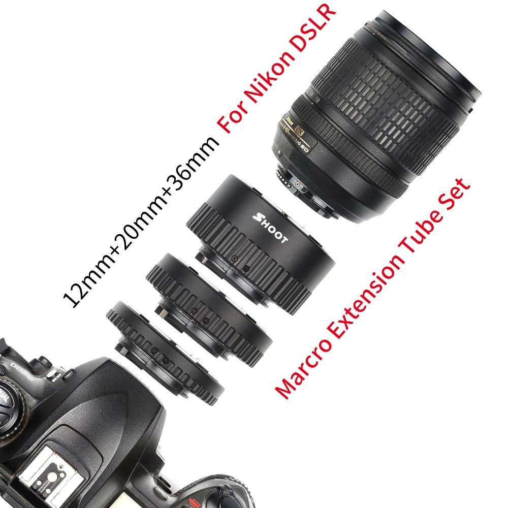 Auto Focus Marcro Extension Tube Set for Nikon D7000 D7100 D7200 D5100 D750 D800 D600 D610