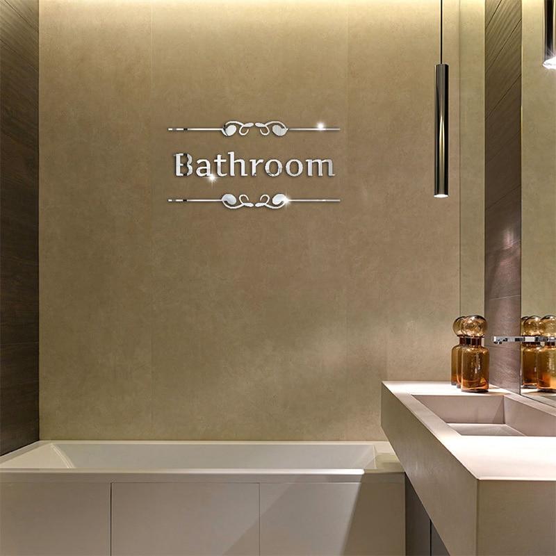 Acrylic DIY Decorative Mirror Wall Stickers Environmentally Friendly High-quality Bathroom Toilet Pattern Decorative Mirror