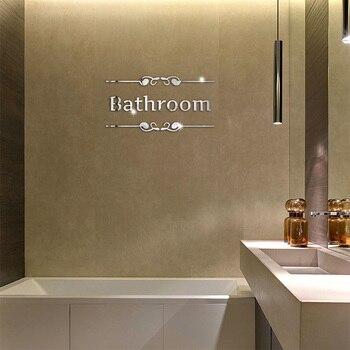 Acrylic DIY decorative mirror wall stickers environmentally friendly high-quality bathroom Toilet Pattern decorative mirror цена 2017