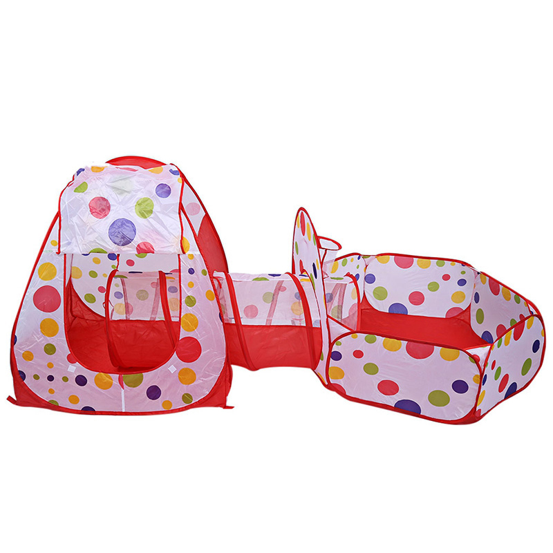 3Pcs Set Play Tent Baby Kids Play Portable Foldable Pop Up Tunnel Basketball Game Tent Children Outdoor Sports Play Tent in Toy Tents from Toys Hobbies