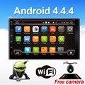 Quad 4 Núcleo 7 PULGADAS 2 Din Android 4.4 Car Audio de DVD Estéreo Radio GPS TV 3G WiFi GPS Unidad Principal de Navegación Para VW Coche Universal
