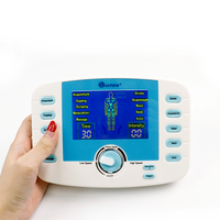 Smart Voice Dual Output Electric Massage Device TENS Acupuncture Muscle Stimulator Meridian Physiotherapy 10 Modes Body Massager