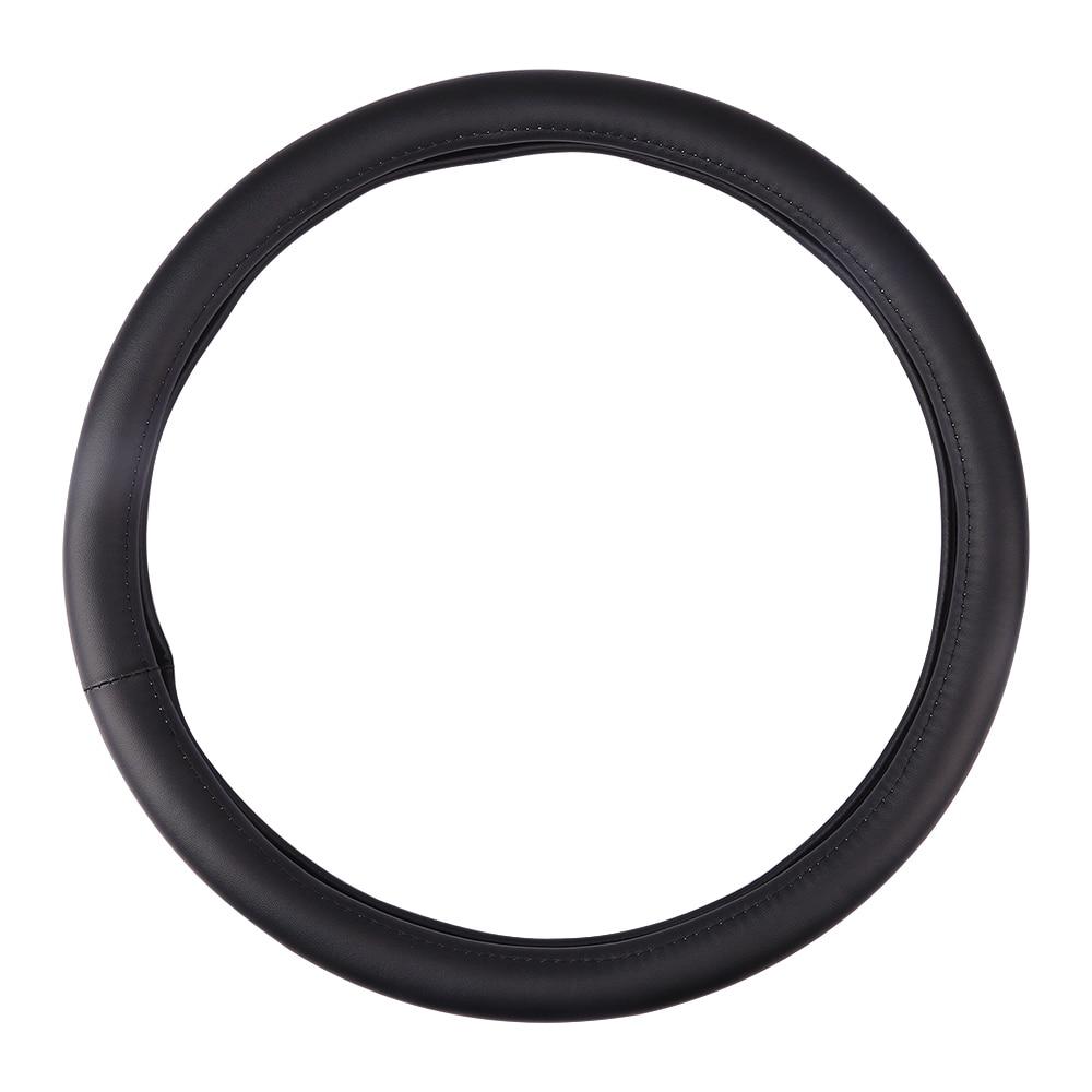 Car Steering Wheel Microfiber Leather Car Steering Wheel Cover Soft Anti Slip Black Braid Handlebar Universal
