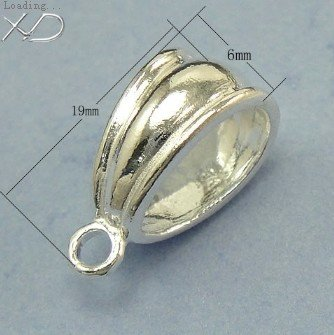 Wholesale 10pcslot genuine 925 solid sterling silver pendant bail 6 wholesale 10pcslot genuine 925 solid sterling silver pendant bail 619mm silver 925 jewelry findings in jewelry findings components from jewelry aloadofball Images