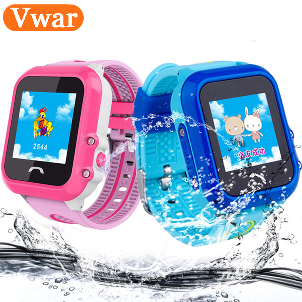 2018 Vwar DF27 Kids GPS Smart Watch Swim Waterproof SOS Call Location Device Tracker Baby Safe Anti-Lost Smartwatch pk DF25 Q90 все цены