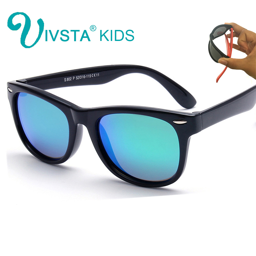 5137d6df305a IVSTA Polarized Kids Sunglasses Boys Glasses Children Sunglasses Girls  Mirror Coat TR90 Silicone Baby Glasses Wholesale