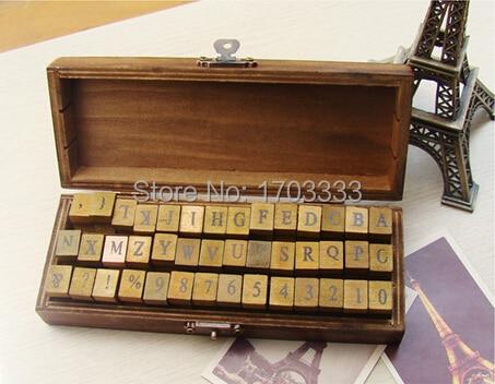40set 42 pcs/set Alphabet stamp Creative letters and numbers stamp gift box/wooden stamp/wooden box DHL Free shipping kitlee40100quar4210 value kit survivor tyvek expansion mailer quar4210 and lee ultimate stamp dispenser lee40100