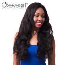 Oxeye girl Peruvian Body Wave 100% Human Hair Bundles Natural Color Remy Hair 1Bundle 10-28Inch Can Be Permed