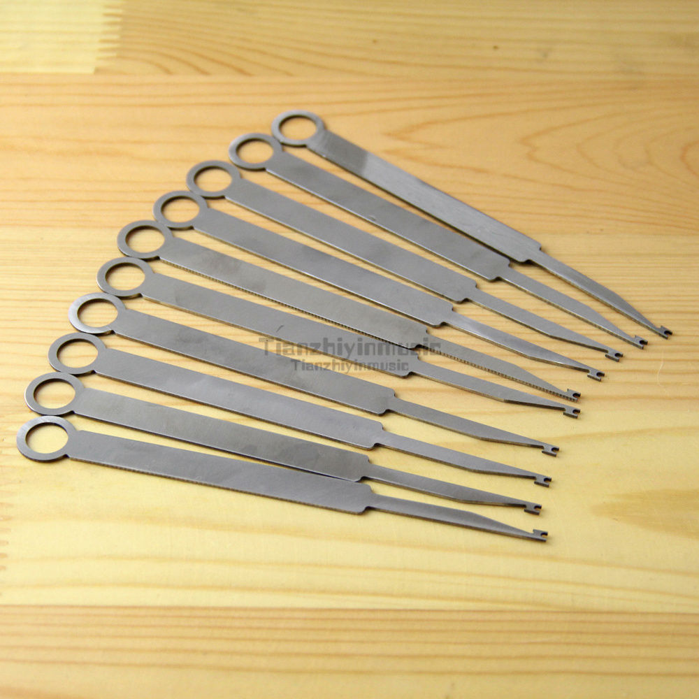 Saxophone Woodwind Instrument Repair Tools - Saxo Maintenance Set 10 Pieces цена