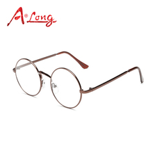 A Long Vintage Round Metal Optical Glasses Frames Women Classic Steampunk Eyeglasses Men Luxury Eyewear Unisex Oculos M68057