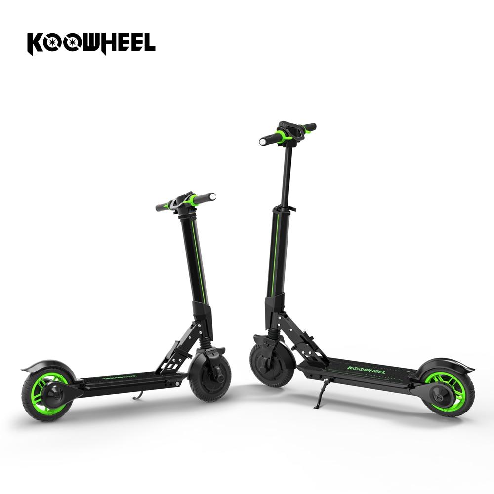 Koowheel E1 Scooter électrique pliable pas à pas e-scooter Mini planche à roulettes coup de pied Scooter Longboard pour enfants adultes avec APP
