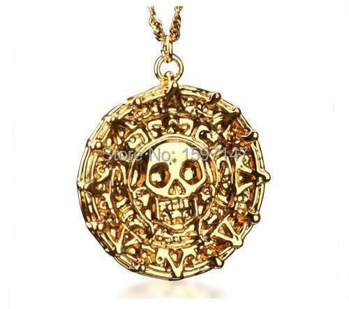 Wholesale 10pcslot Pirates Of the Caribbean Aztec Gold Skull