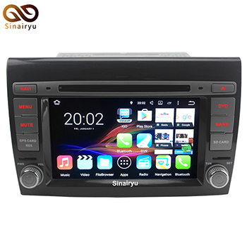 New 1080P 64 Bit CPU 2GB RAM Android 7 1 2 Car DVD GPS For Fiat