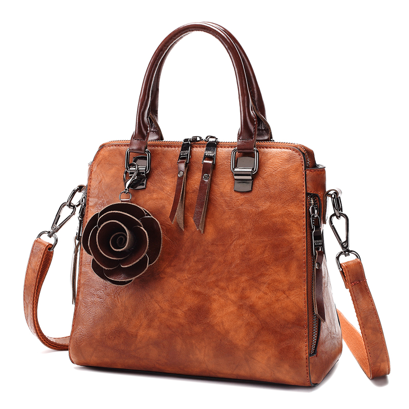 Moda genuína bolsas de couro das mulheres bolsa de ombro de couro real elegante crossbody messenger bags bolsa senhoras t22