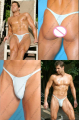 Classical *Simple *Sexy*818*sexy men lingerie Men Sexy T-Back Thong G-String Brief Underwear free shipping