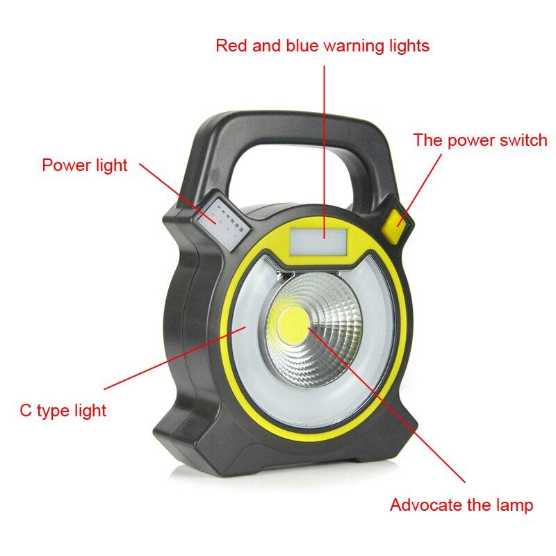 Boruit светодиодный ультратонкие светодиодный прожекторы 15 Вт Водонепроницаемый IP65 аккумуляторная портативный прожектор лампы кемпинг свет ...