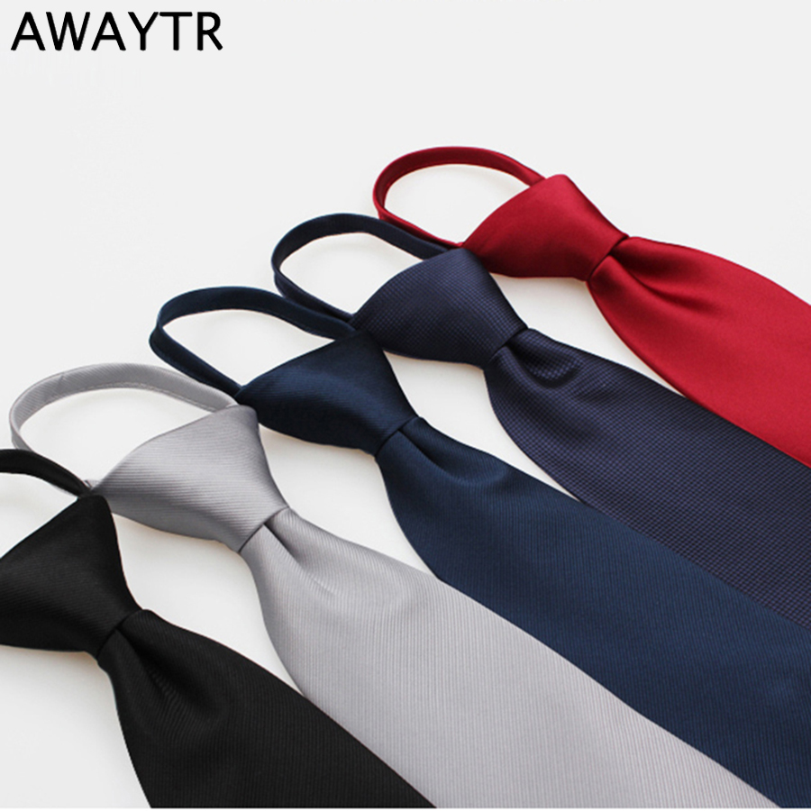AWAYTR Fashion Tie for Kids Narrow Casual Children Ties for Wedding Party Zipper Skinny Neckties for BoysNeck Ties Easy to Pull