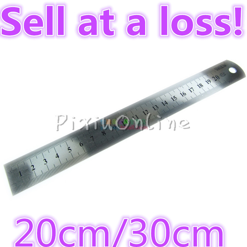 1pcs/lot YL285 Stainless Steel Metal Ruler Metric Rule Precision Double Sided Measuring Tool Parts 20cm 30CM  Free Shipping 2pcs dual side stainless steel measuring straight ruler 300mm 12 inch