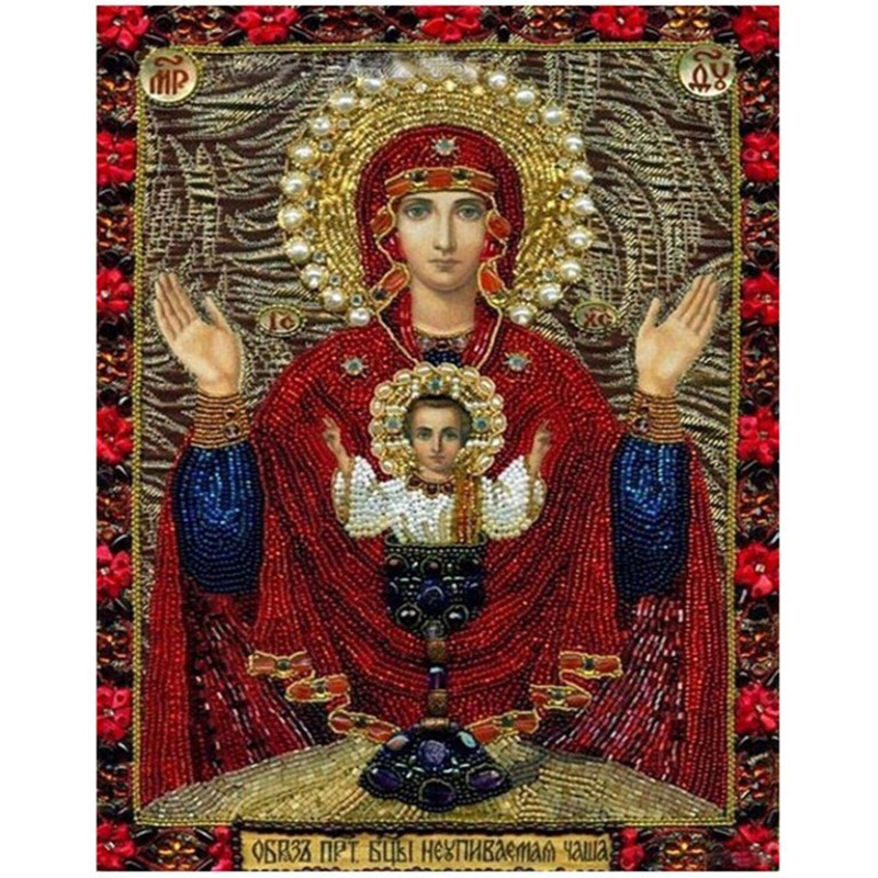 3D diamond Painting Cross Stitch kits Diamond Embroidery 5D Diy Diamond Mosaic pattern religion Holy mother Picture resin gift