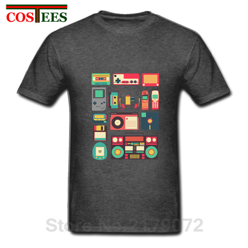 pick up best cheap great quality US $5.54 44% OFF|RETRO TECHNOLOGY Men T Shirt homme 2018 Vintage Short  Sleeve Cool Music Cheap Clothing Luxury Brand Mens Techno t shirt  Camiseta-in ...