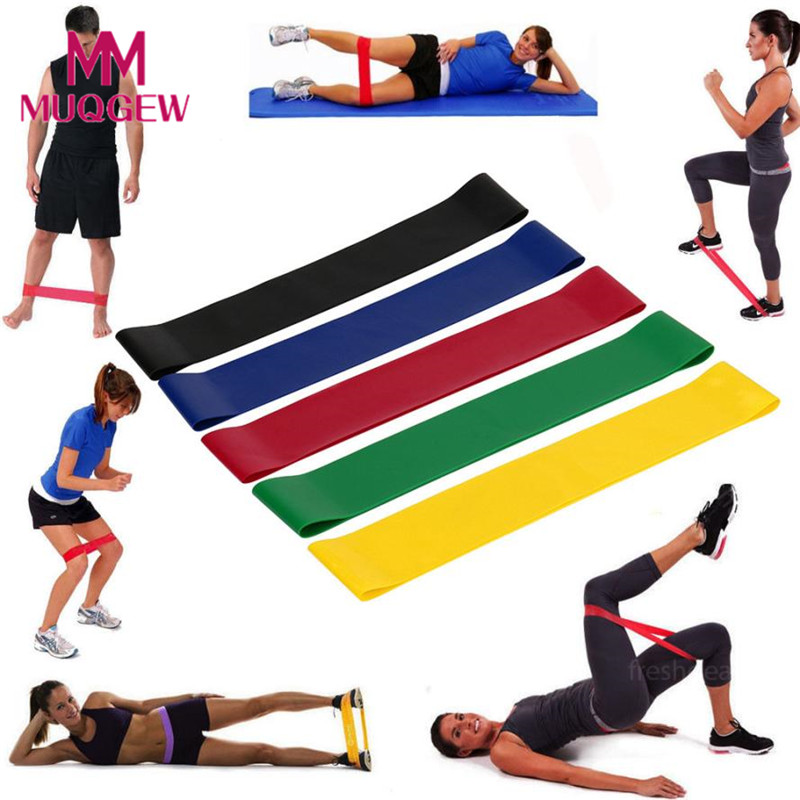 5 Sizes Resistance Bands Set Loops Band Yoga Pilates
