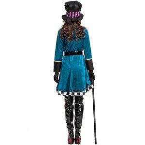Image 4 - Disfraz de payaso de Alicia en el país de las maravillas para adultos, Halloween, Carnaval, vestido de magia