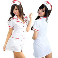 2017 Sexy Nurse Costume Set Fantasias Sexy Erotic Cosplay Costume Nurse Uniform Tempt V Neck Dress