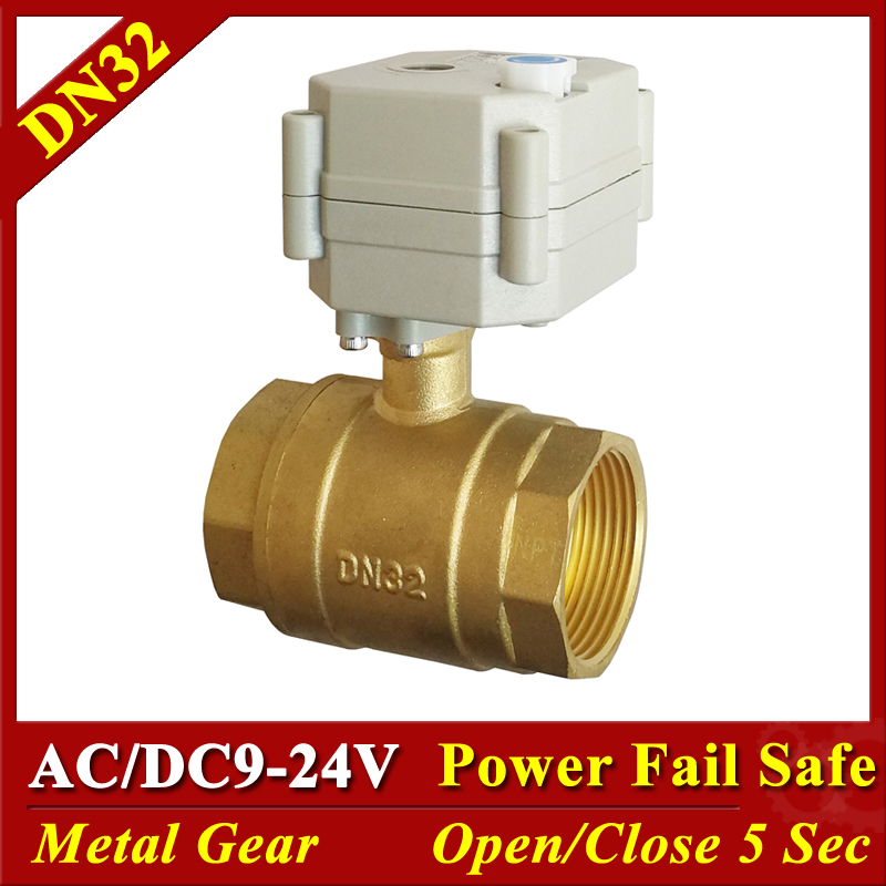 Normally Close Valve Brass DN32 2 Way 1 1 4 Water Electric Normally Open Valves AC