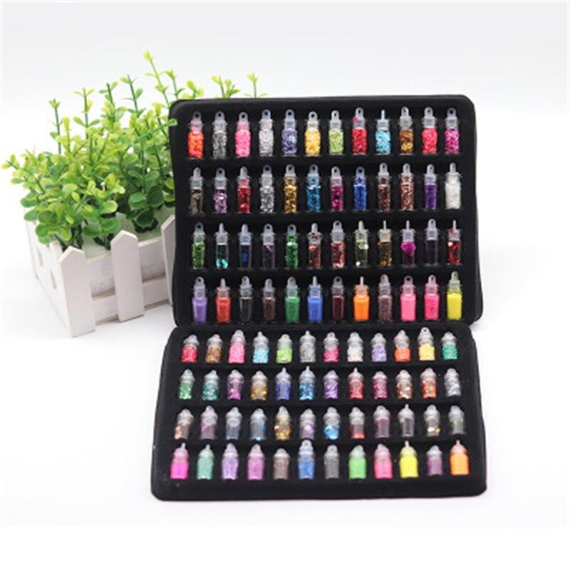 48 stücke Pailletten/Glitter Füllstoff Flauschigen Schleim Box Spielzeug Für Kinder Charms Lizun Schleim DIY Kit Zubehör Kit Liefert lustige Geschenk