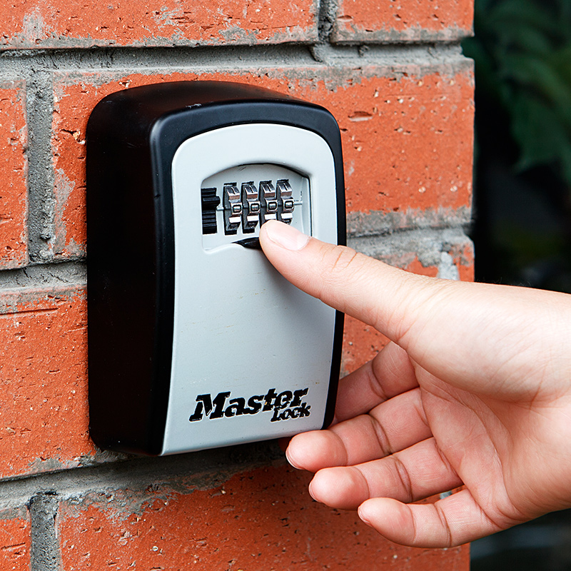 master lock chave cofre caixa de montagem na parede combinacao senha fechadura da garagem liga de